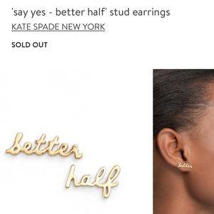 Self love! Kate spade better half earrings